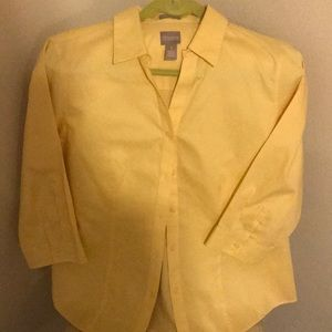 Chico's yellow blouse